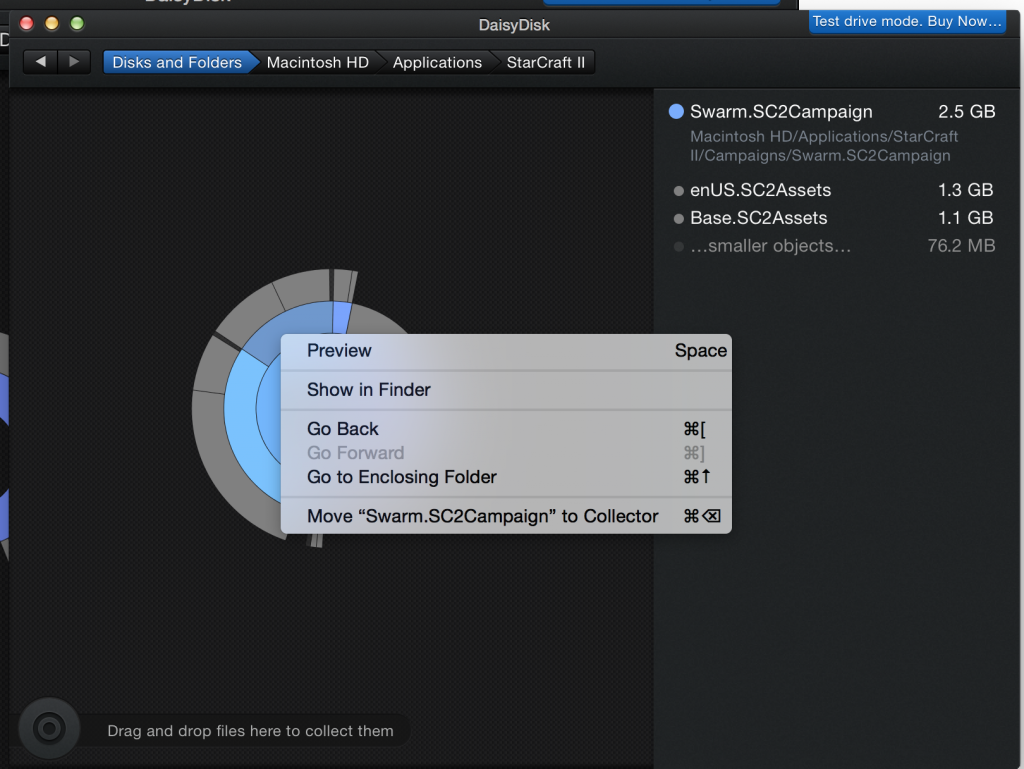 DaisyDisk: Show In Finder