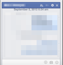Look familiar?  This is a facebook chat window.