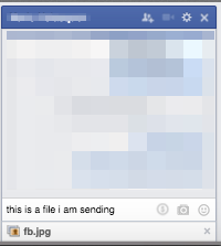 Facebook Chat File Sending -- Step 4 - Send the File!
